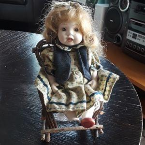 Vintage collector German sitting girl porcelain do